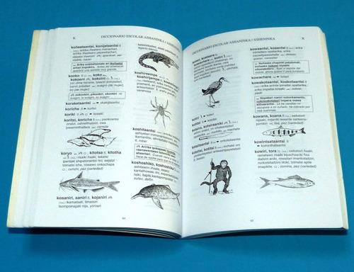 diccionario escolar ashaninka asheninka ilustrado año 2000