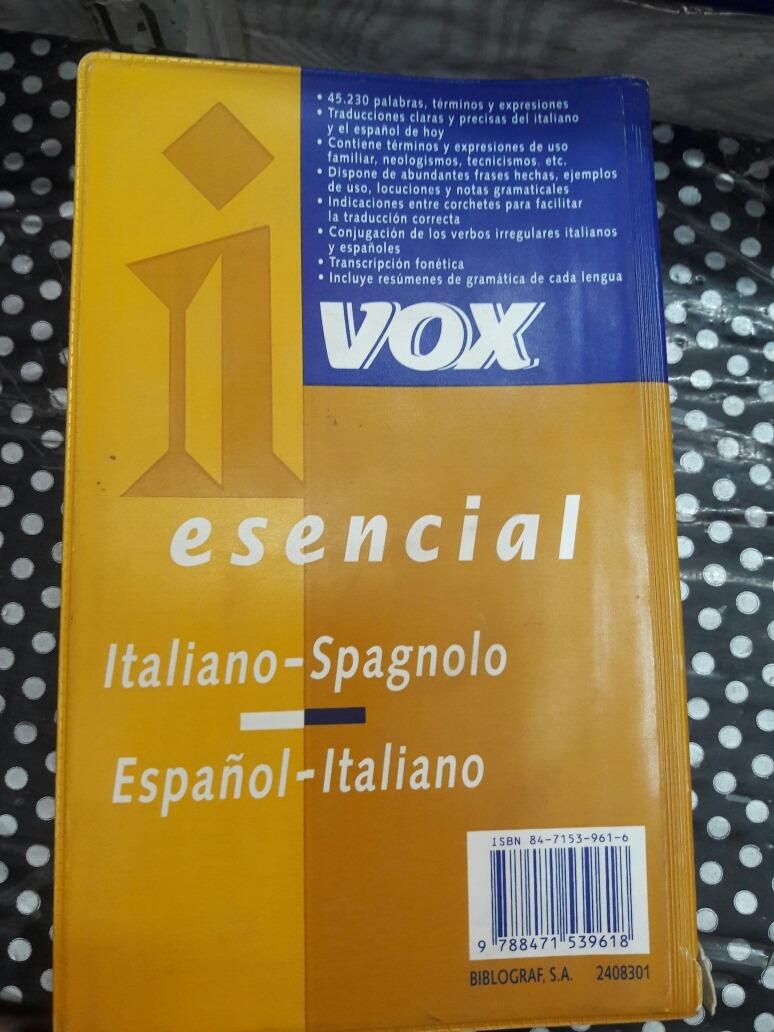 Diccionario Esencial Vox Italiano Español 70000