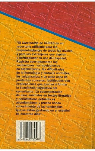 diccionario espasa dudas y dificultades de lengua española.