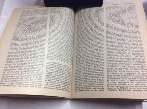diccionario filosófico. rosental y iudin.