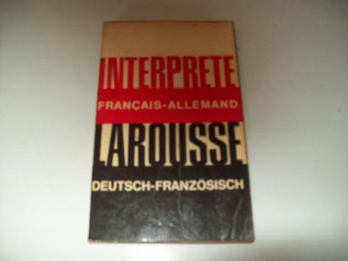 diccionario frances alemán  larousse   interprete