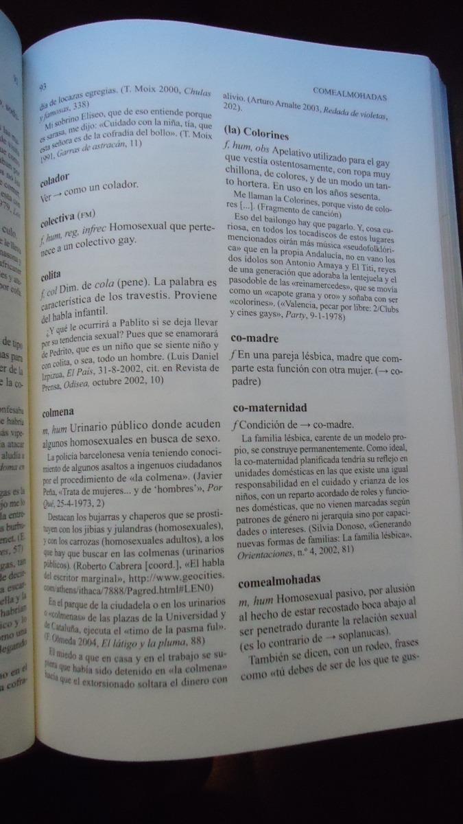 diccionario gay lésbico vocabulario general y argot de la homosexualidad