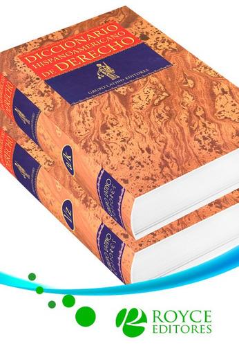 diccionario hispanoamericano de derecho 2 vols