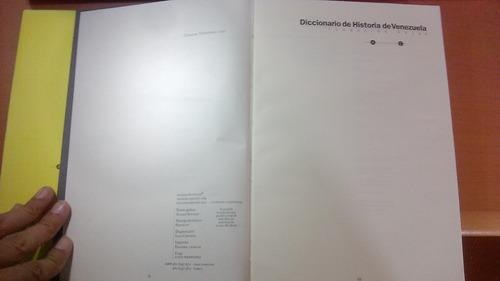 diccionario historia de venezuela, 4 vol 1997. como nuevos.