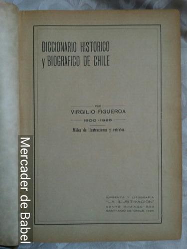 diccionario histórico y biográfico d chile virgilio figueroa