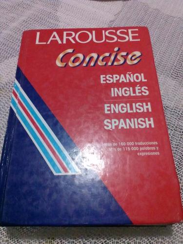 diccionario ingles español/español ingles concise  usado