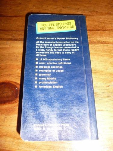 diccionario ingles oxford learner's pocket dictionary 1986
