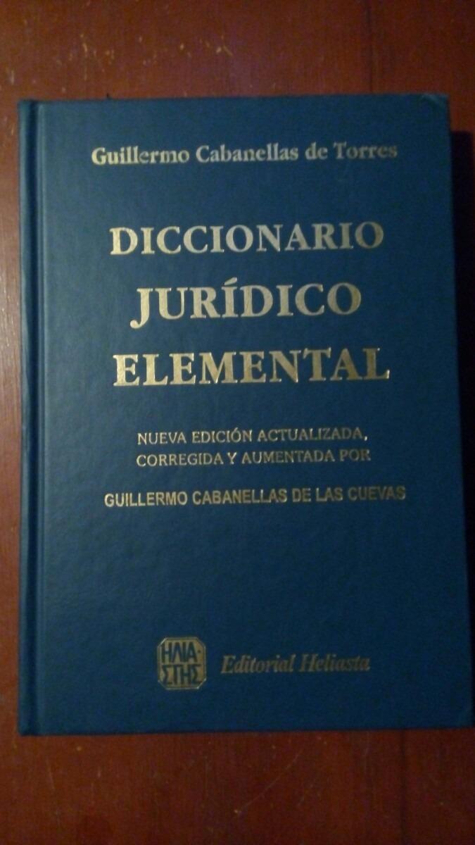 diccionario juridico de cabanellas