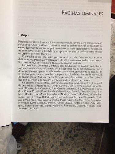 diccionario jurídico moderno. rafael martínez morales. 2 tom