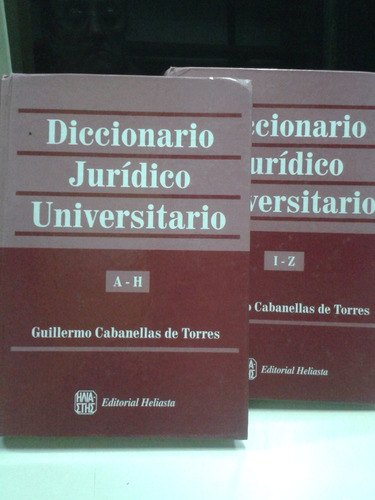 diccionario juridico universitario * 2 tomos * cabanellas