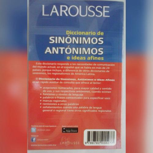diccionario larousse de sinonimos y antonimos