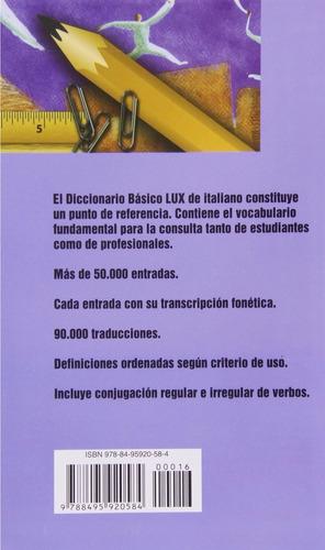 diccionario libro italiano español lux