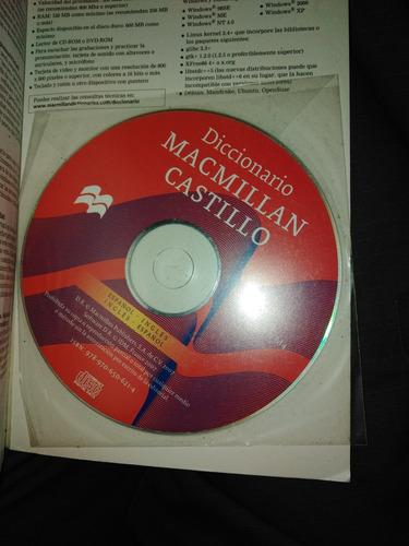 diccionario macmillan castillo..español-ingles con cd.# 205