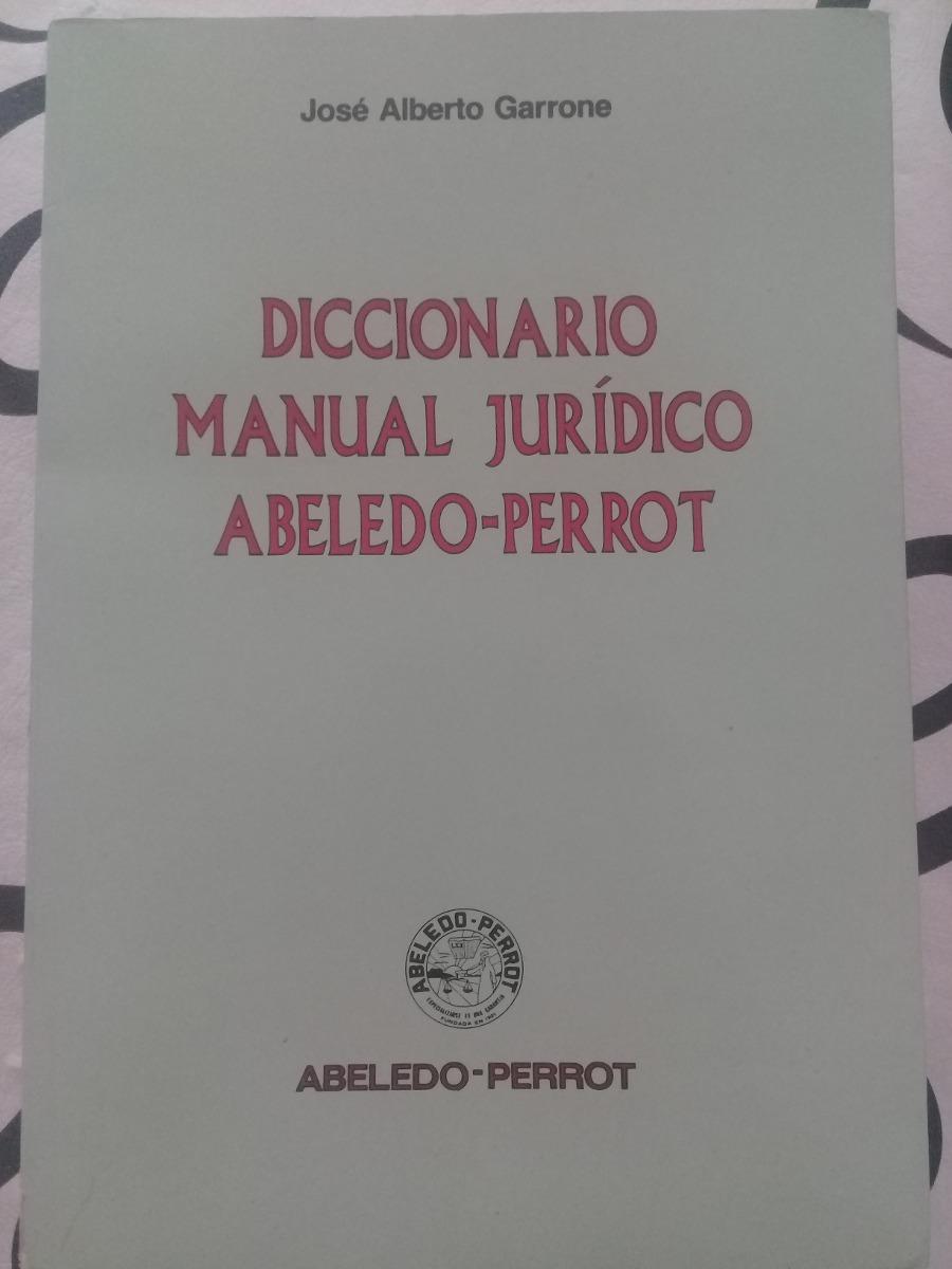 diccionario manual jurídico abeledo-perrot. Cargando zoom.