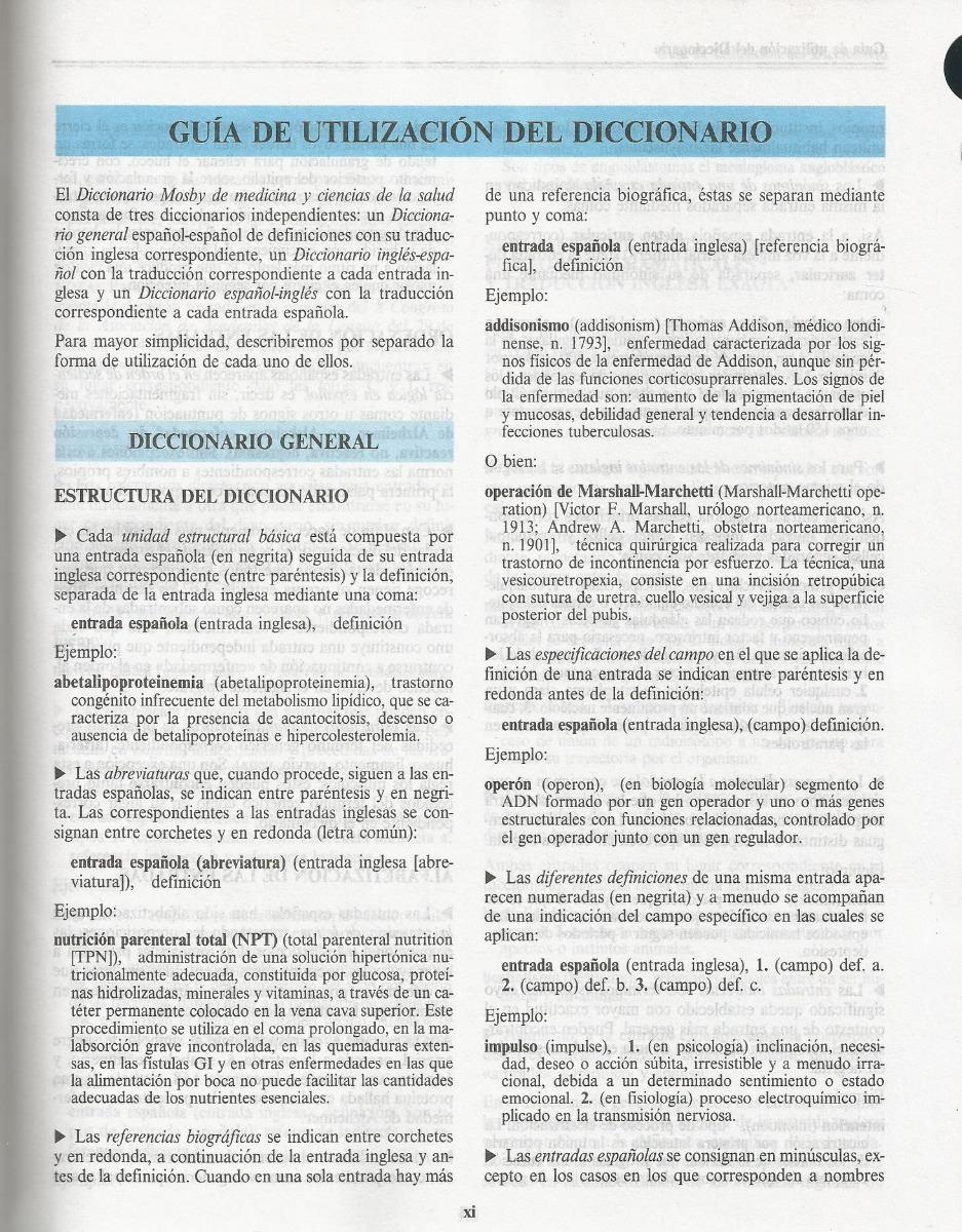 Diccionario Mosby De Medicina Y Ciencias De La Salud 1 500 00