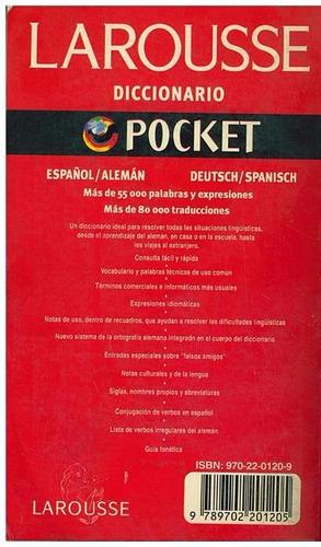 diccionario pocket larousse español- alemán/ deutsch- spanis