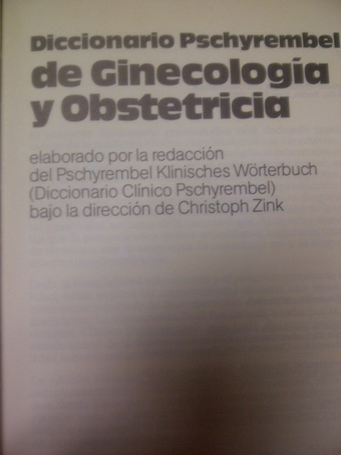 diccionario pschyrembel d ginecologia obstetricia por walter