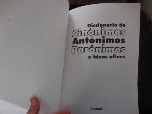 diccionario sinónimos antónimos parónimos e ideas afines