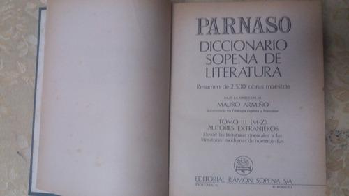 diccionario sopena de literatura parnaso 3 tomos