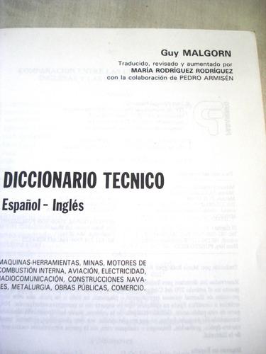 diccionario tecnico español-ingles((tienda fisica)