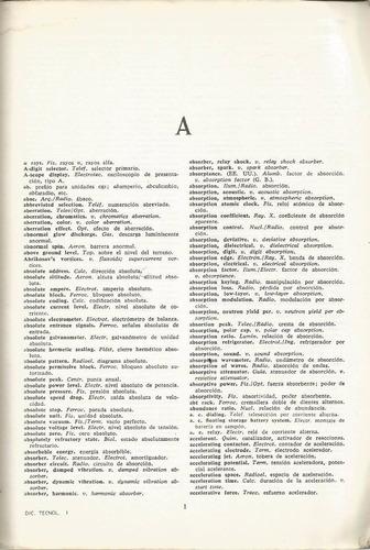 diccionario tecnológico. inglés-español. electricidad, telec