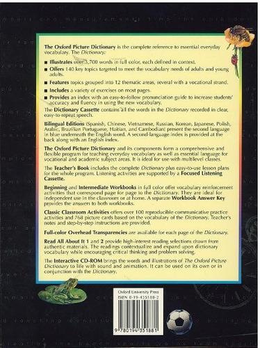 diccionario the oxford picture dictionary english & spanish.