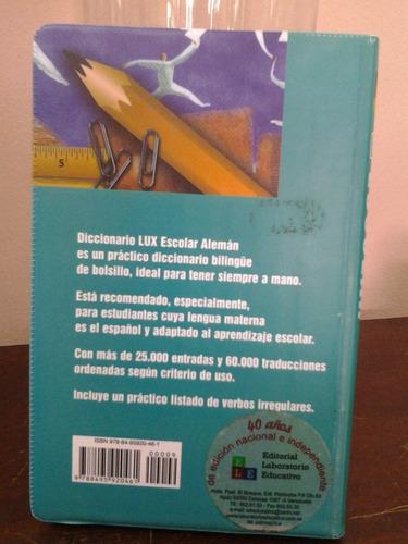 diccionarios escolar lux español-aleman, deutsch-spanisch