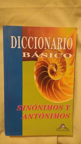 diccionarios ingles - español - sinonimos y antonimos oferta
