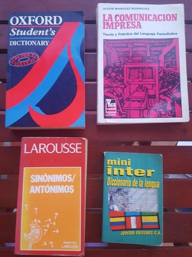 diccionarios inglés-español, sinónimos/antónimos, latino