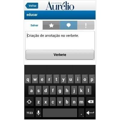 dicionario aurelio para tablet android