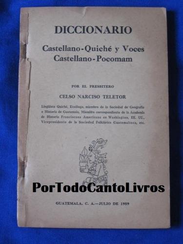 dicionario castellano quiche pocoman