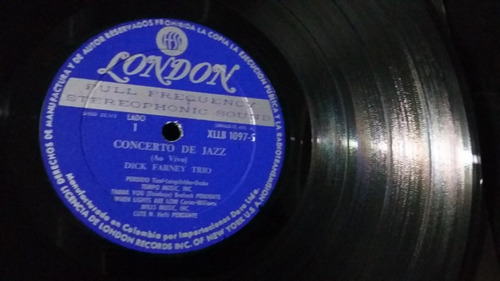 dick farney trio concerto de jazz ao vivo lp jazz