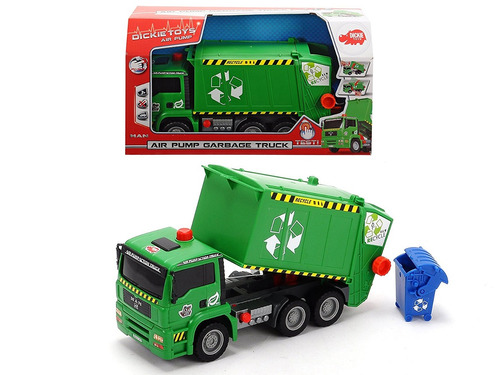 dickie toys 12  bomba de aire de acción camión de basura del