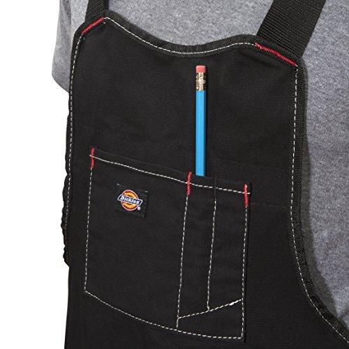 dickies work gear 57081 babero negro con 16 bolsillos