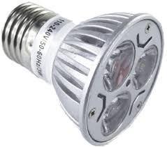 dicroica led 3 w gu10 / e27 / bi pin 220 v  oferta: 5 + 1  !
