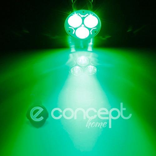 dicroica led 3 watt color verde gu10 220v spot embutir dicro