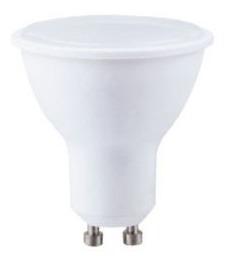 dicroica led gu10 plastico 7w 600lm 220v calida fria cuotas