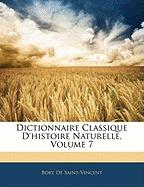 dictionnaire classique dhistoire, bory de saint-vincent