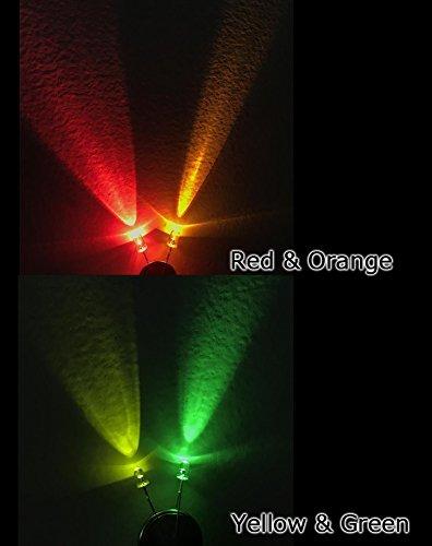 50 unidades 3mm LED blanco cálido difuso super brillante