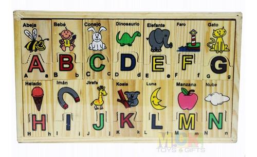 didáctico de madera infantil rompecabezas abecedario mck6201