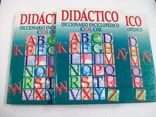 didactico diccionario enciclopedico color - 3 tomos
