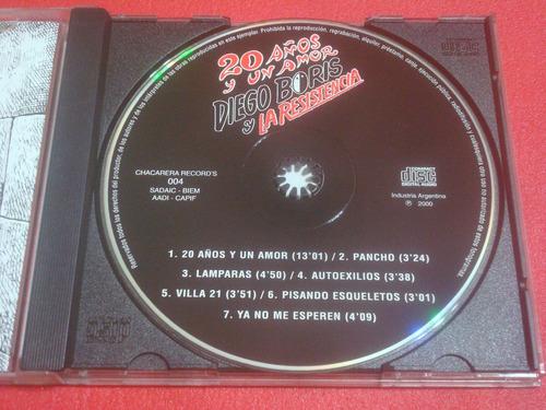 diego boris - 20 años y un amor (cd excelente)