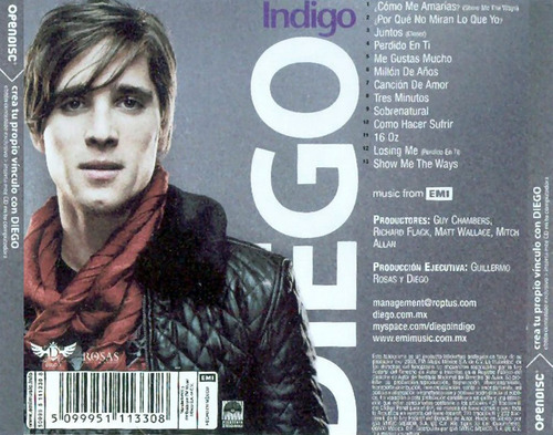 diego gonzález boneta cd indigo nuevo sellado rock ages!
