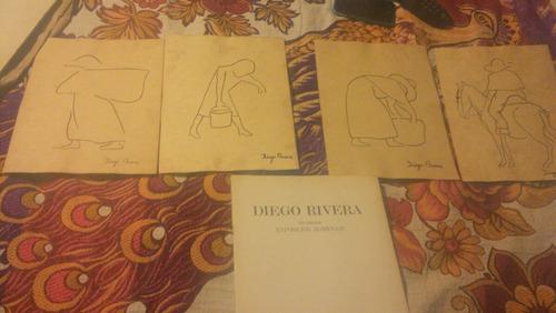 diego rivera , 4 dibujos