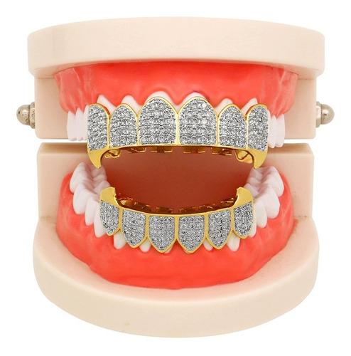 dientes cadera hop grillz dorado plateado chapado con hielo