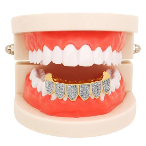 dientes de hip hop grillz dorado plateado plateado helado