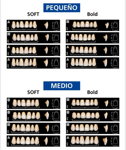 dientes vivodent ivoclar color 2 a 130 novacekdental
