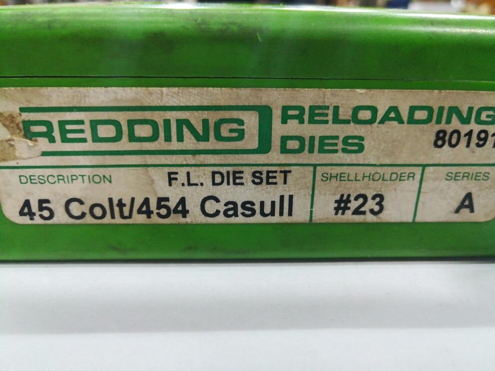 Dies Redding 45 Colt 454 Casull - $ 4 500,00
