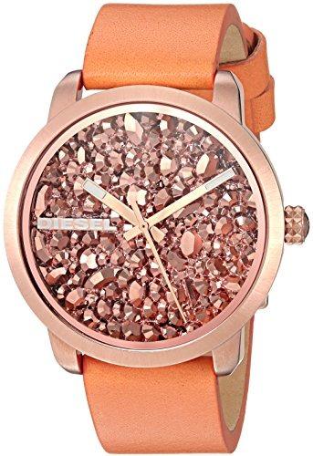 35e608383c5a Diesel Mujer Dz5552 Flare Rocks Reloj De Cuero Naranja -   223.345 ...