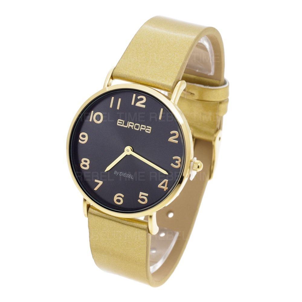 4485602e4f23 Cargando zoom... reloj europa by diesel mujer 4000 215 wr malla cuero  glitter